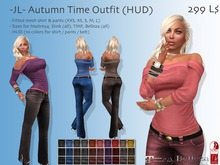 -JL- Autumn Time Outfit (HUD) for Maitreya, Slink (all), Belleza (all), TMP, Classic