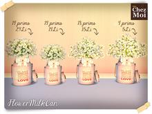 FlowerMilkCan ♥ NEW Chez Moi