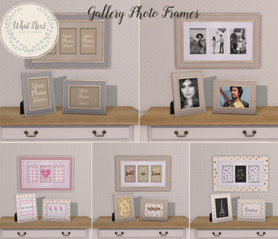{what next} Gallery Set of Photo Frames