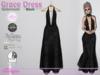 Grace dress spiderwebs black