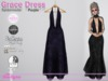 Grace Dress Spiderweb Purple