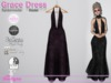Grace Dress Spiderweb Violet
