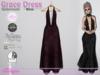 Grace Dress Spiderweb Wine