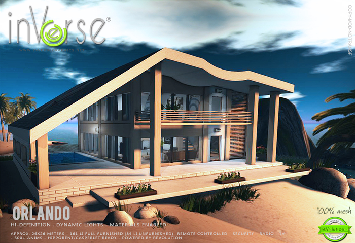 inVerse® MESH - ORLANDO_full furnished contemporary mesh house - Materials enabled - Dynamic lights
