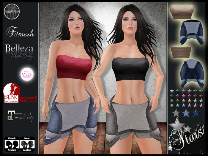 "Stars Fashion - TMP clothes also for classic,Maitreya,Belleza,Slink - ""Sweet"""