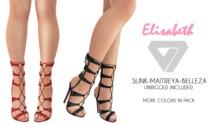 ILLI - [SLink,Belleza,Maitreya] Elisabeth Lace Up Heels  (HUD Driven) - PROMO