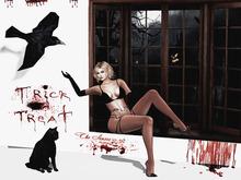 Box The Senses - Halloween 02 - Raven, Cat, blood letter panel