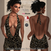 """BeatriceStyle"" - Black/Golden Sensual Dress"