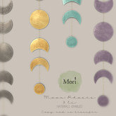 Mori. moon phases decor  fatpack