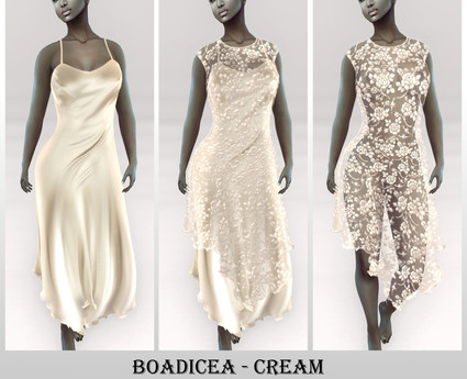 * Boadicea * Slip Dress with a Lace overlay