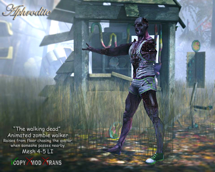 Aphrodite The walking dead collection- Animated Zombie Walker- Moving Halloween Deco