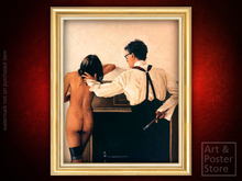REACH OUT AND TOUCH Jack Vettriano EROTIC ART | Gold Fluted Frame