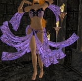 Purple lace silk