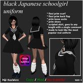 HaxWorx 1003 - black japanese schoolgirl uniform