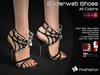 :)(: SpiderWeb Shoes - all colors - Maitreya lara - slink high feet - EVE body mesh