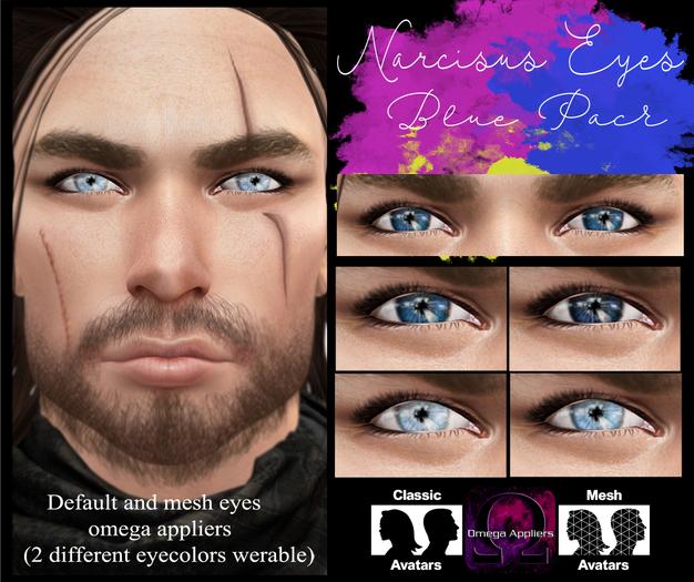 .Viki. Narcisus Eyes - Blue Pack