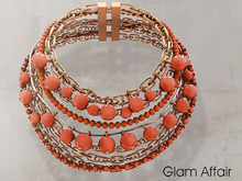 Glam Affair - Zafrina Necklace Orange