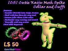 [CS]Cutie Kaiju Mesh Spike Collar & Cuffs