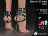 :)(: Slavia Shoes - Black - Maitreya lara - slink high feet - EVE body mesh