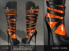 KARU KARU - Latex And Leather Boots Brenda (HALLOWEEN)