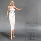 Snowpaws - Mille Strapless Ruffle Dress - White