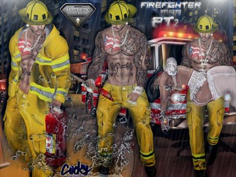 {RC}  Fireman Costume P2 Aesthetic/ Belleza Jake