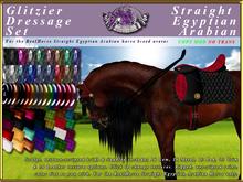*E* Glitzier Dressage Set [BOXED] RH Straight Egyptian Arabian