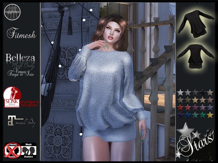 "Stars Fashion - Women sweater for mesh bodies, Maitreya, Belleza Isis, Venus,Freya, Slink physique, Hourglass - ""Stella"""
