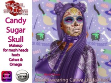RSC CANDY SUGAR SKULL MAKEUP FOR MESH HEADS