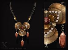 (Kunglers) Lakshmi necklace - Garnet