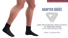ILLI - Mesh Socks Formal Pack (HUD Driven) [SLink,TMP Men,Signature,Aesthetic,Adam -> SLink Male Shoe Adapter]