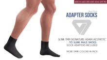 ILLI - Mesh Socks Dark Pack (HUD Driven) [SLink,TMP Men,Signature,Aesthetic,Adam -> SLink Male Shoe Adapter] PROMO