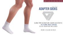ILLI - Mesh Socks Color Pack (HUD Driven) [SLink,TMP Men,Signature,Aesthetic,Adam -> SLink Male Shoe Adapter]