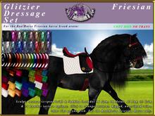 *E* Glitzier Dressage Set [BOXED] RH Friesian