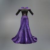 Purple Spider Queen Mesh Evening Dress