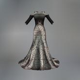 Silver Spider Queen Mesh Evening Dress