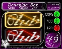 ** NEW ** - * Donation * BOX * Club / Store / ect.