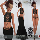 .:FlowerDreams:.Catrina - black applier gown