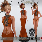 .:FlowerDreams:.Catrina - orange applier gown