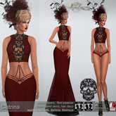 .:FlowerDreams:.Catrina - red applier gown