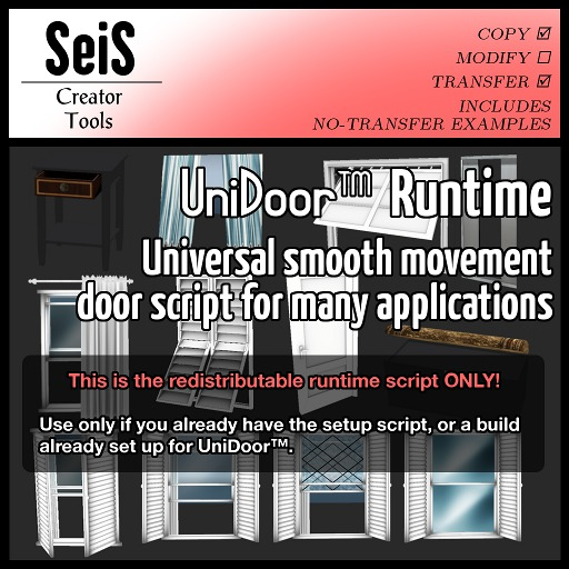 <SeiS> UniDoor Runtime