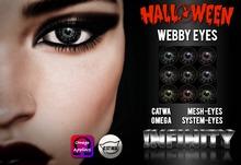!NFINITY Halloween Webby Eyes  CATWA + OMEGA + System + MESH