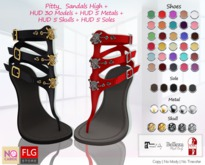 :: No Cabide ::Pitty_ Sandals High - HUD 30 Models !New!