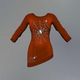 Orange Ghost Spider Fitmesh Sweater Dress