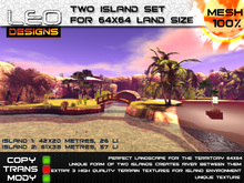 Two island set for 64x64 land size or skybox