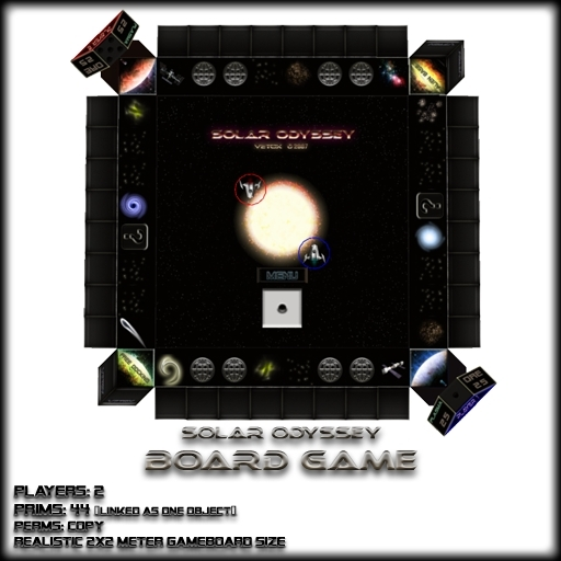 Solar Odyssey. A 2 player Sci-Fi game board.