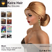 A&A Keira Hair All Colors Pack.  Resizable mesh womens updo hairstyle