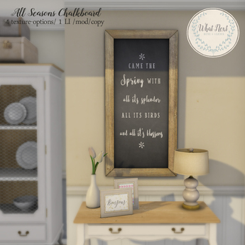 {what next} All Seasons Chalkboard (boxed)