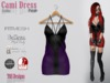 Cami dress gothic purple