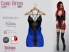 Cami Dress Gothic Blue